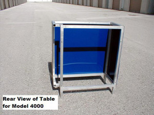 Rear of table used for Model 4000